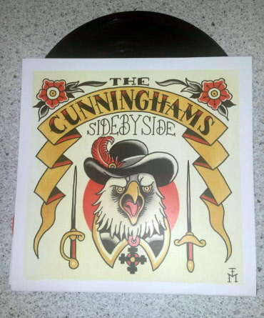 Cunninghams, the - Side by Side 7EP (lim.140, black Vinyl / Cover 4)