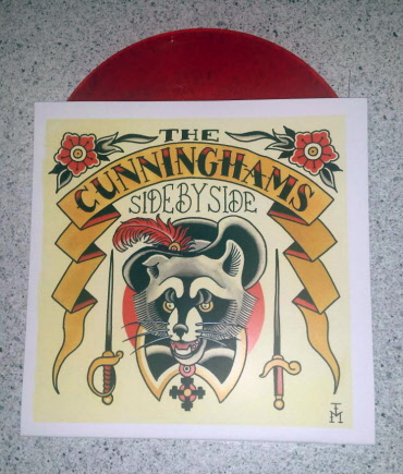 Cunninghams, the - Side by Side 7EP (lim.96, red Vinyl / Cover 3)